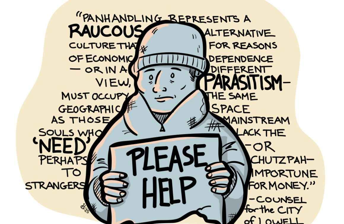 Panhandling Comic by Hallie Pope