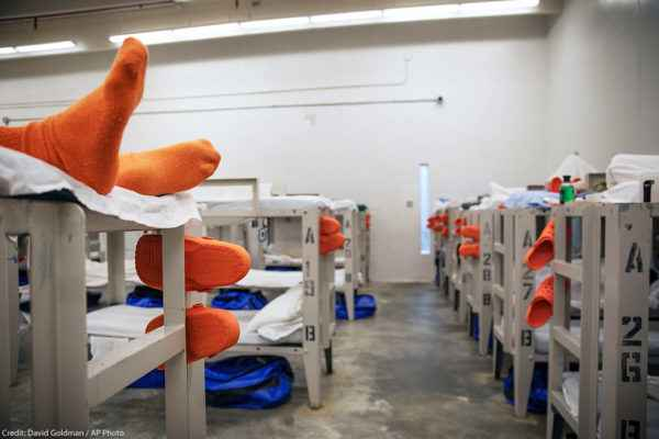 Image of the right sleeping quarters in immigration detention