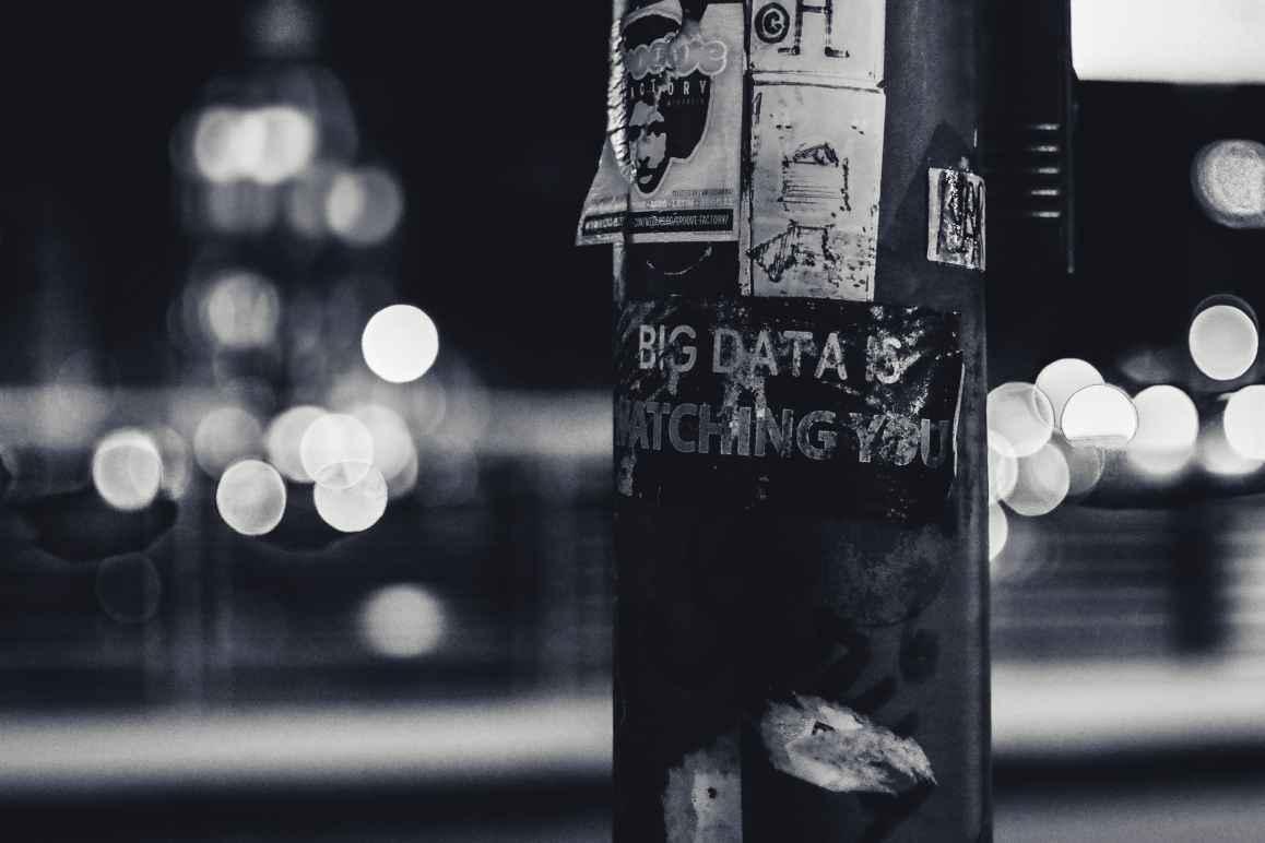 Big Data is Watching You Stock Photo