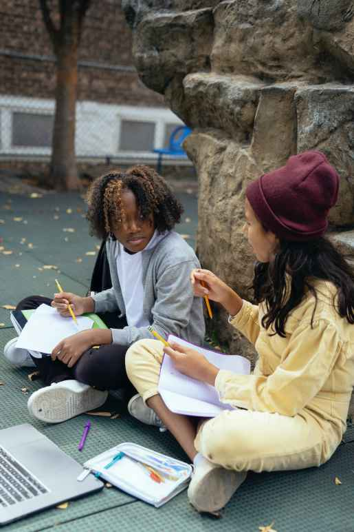 youth studying