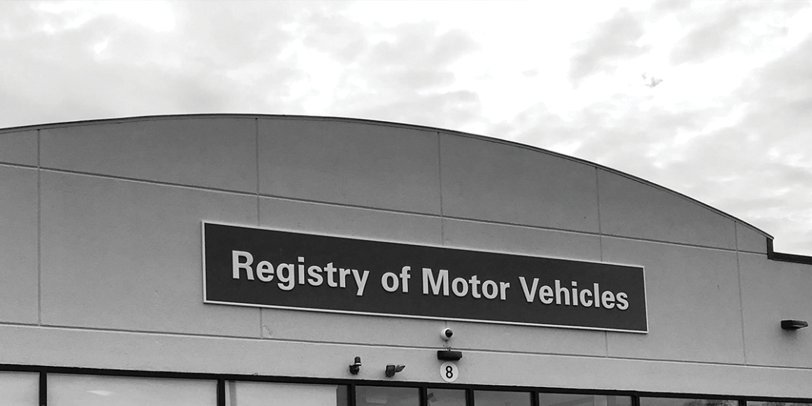 Outside of Registry of Motor Vehicles building