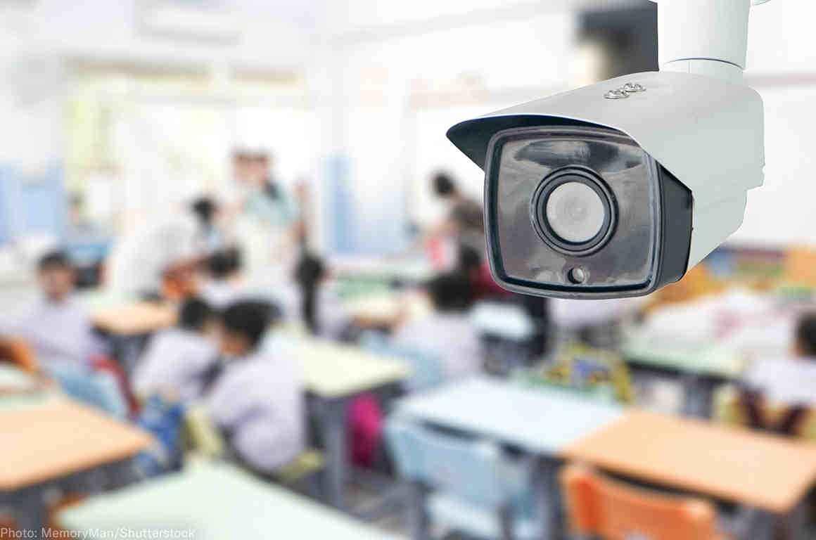 surveillance camera in classroom