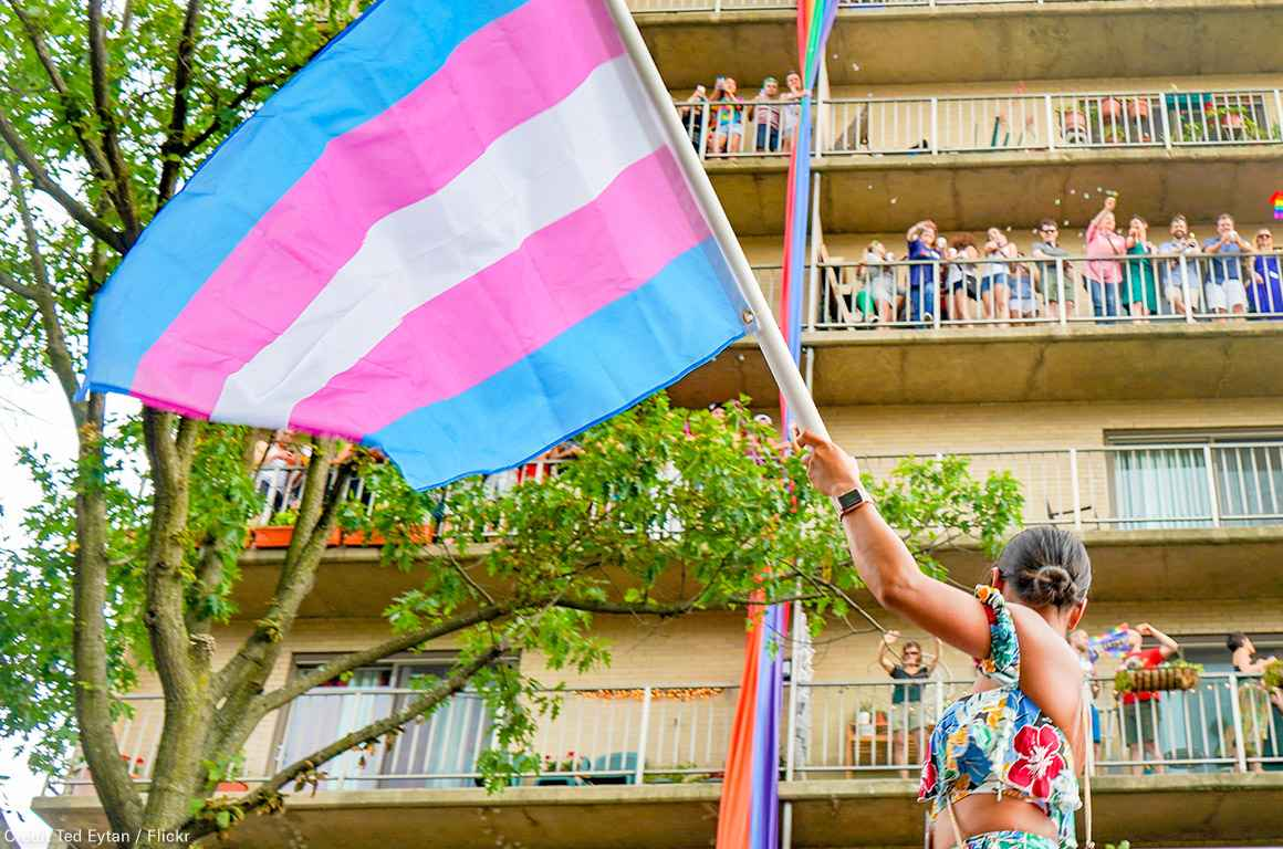 Trans Flag at March
