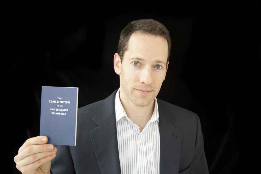 Matthew Segal with the Constitution