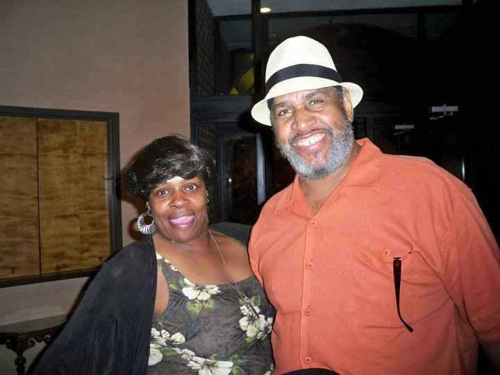 Eurie Stamps smiles with his wife Norma.