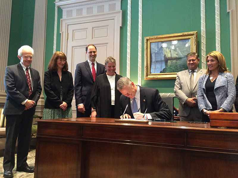 Charlie Baker Public Records Bill Signing