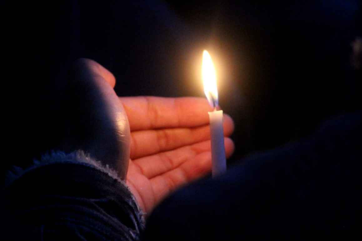 Toronto vigil for Orlando - Hand holding candle