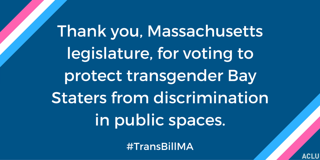 Thank you Massachusetts Legislature