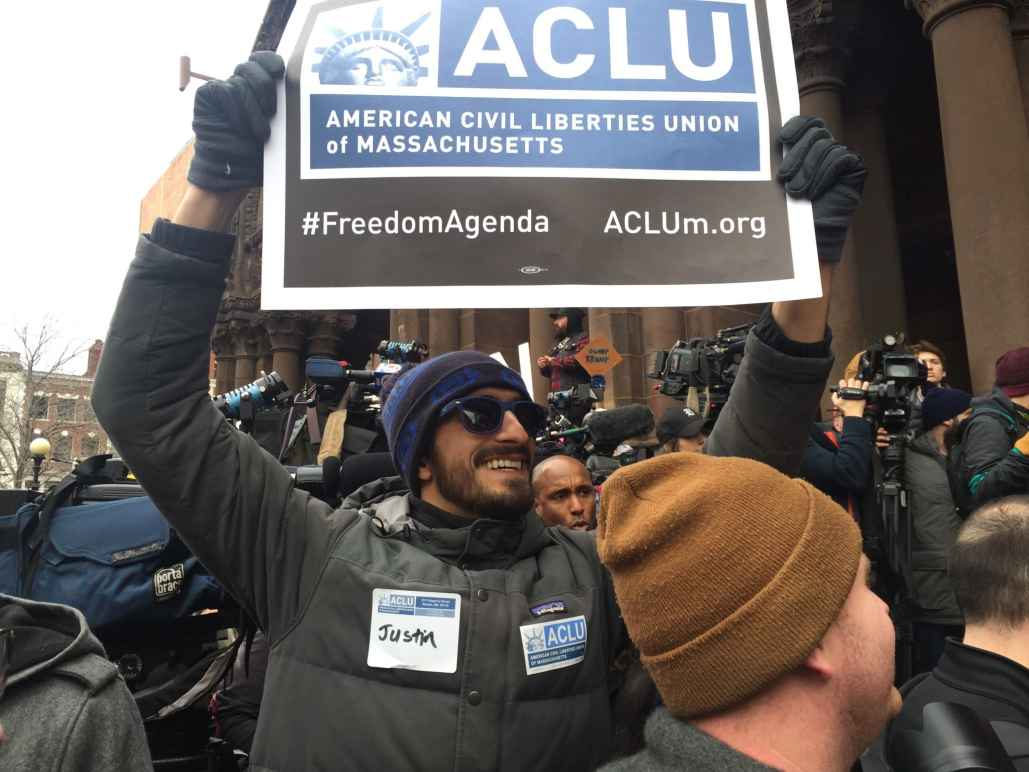 ACLU Sign at Protest