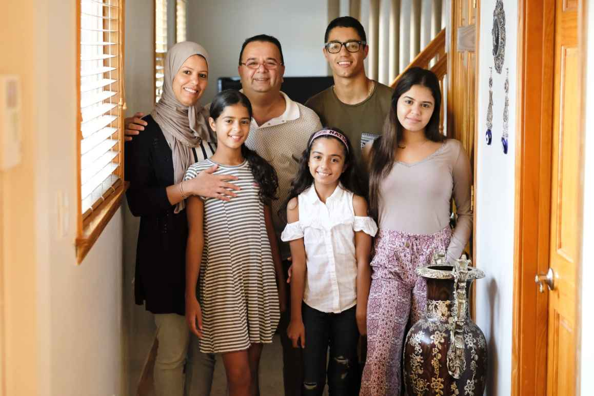 Plaintiffs Ghassan and Nadia Alasaad with their four children