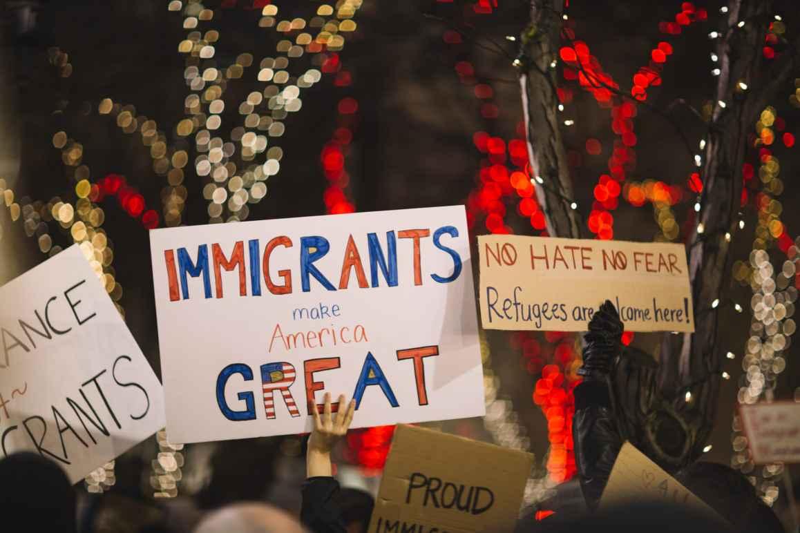 Immigration Refugee Protest Signs