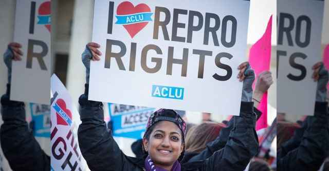 I Heart Repro Reproductive Rights ACLU Sign