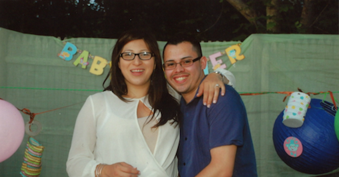 Lilian Calderon and her husband Luis Gordillo